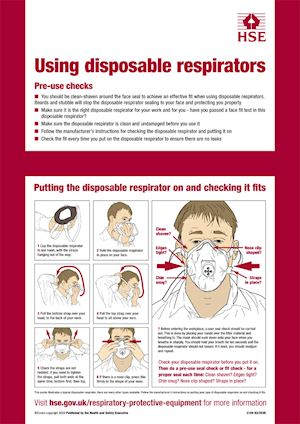 HSE: Using disposable respirators correctly