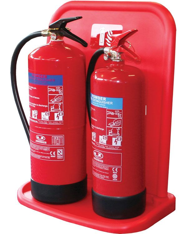 Fire Extinguisher Stand Double