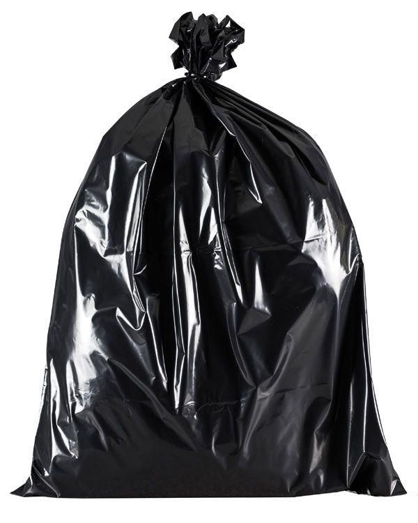 full black bin bag