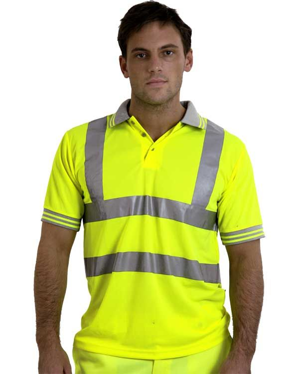 High visibility polo shirt from aspli safety for Hi vis polo shirts with pocket