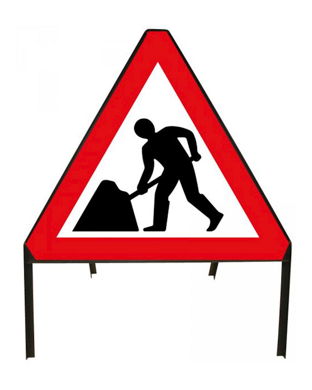 road sign men at work