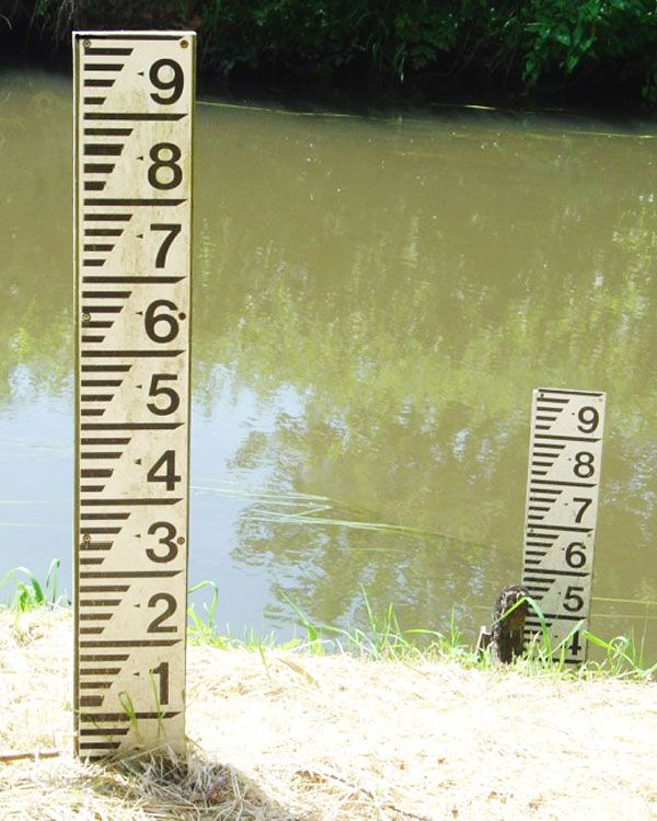 Water Depth Gauge Board Water Level Marker Sign From