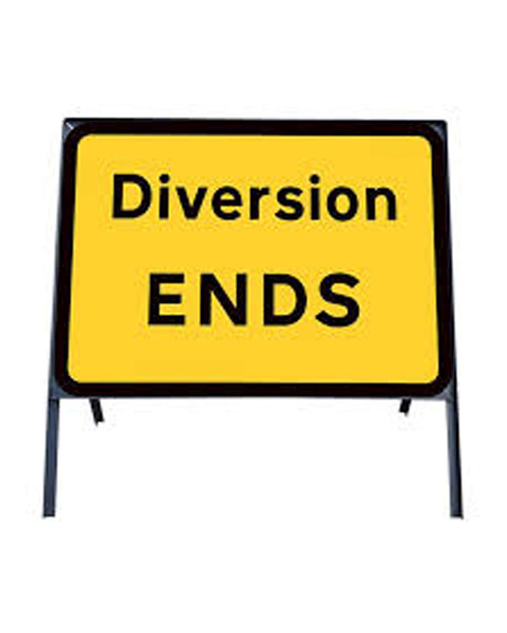 453f3badeec7 Diversion End Metal Sign In Frame Chapter 8 Red Book