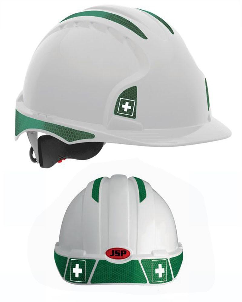 First aid stickers for jsp evo 2 evo 3 safety helmets from aspli safety