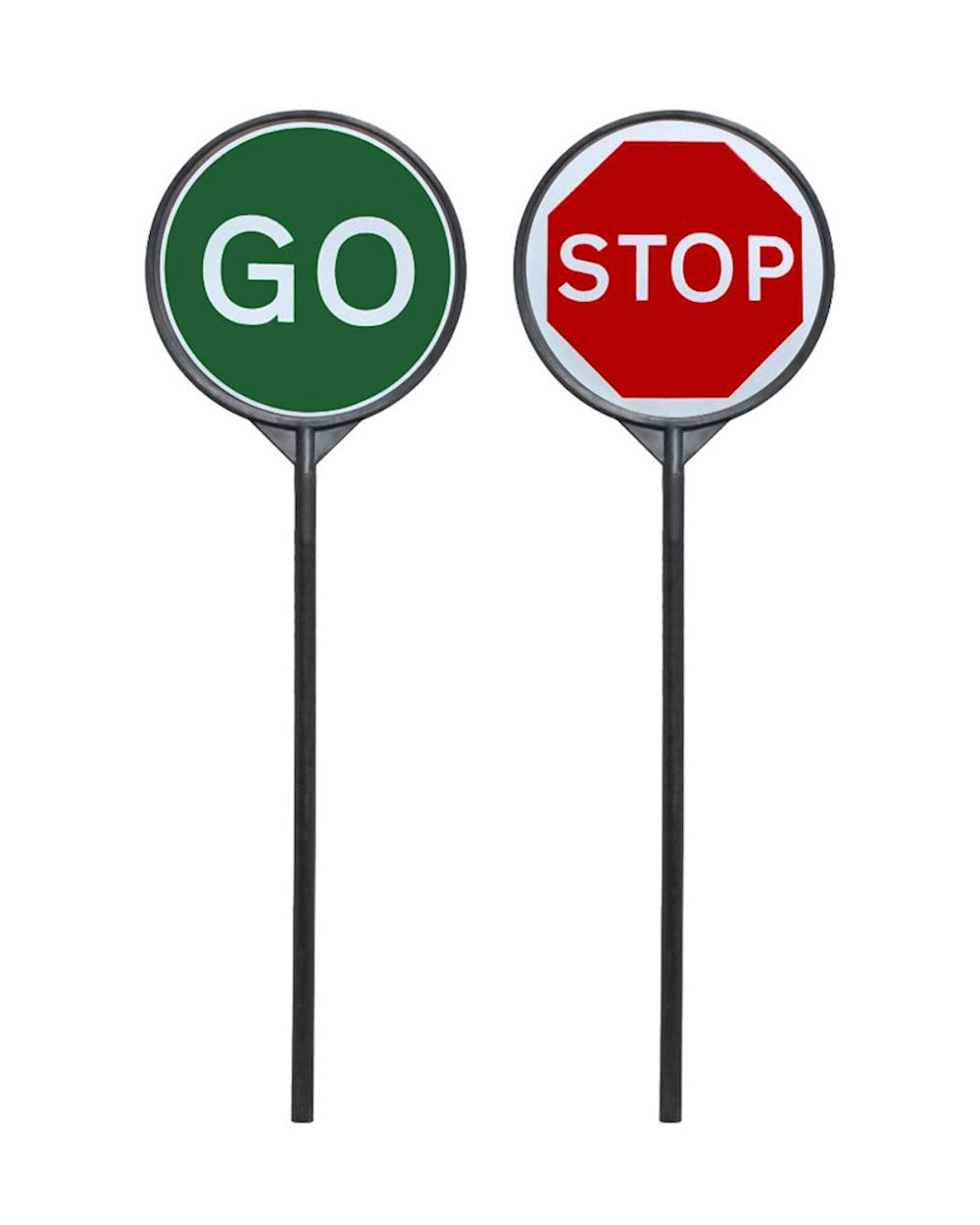 lollipop plastic stop and go traffic sign from aspli safety. Black Bedroom Furniture Sets. Home Design Ideas