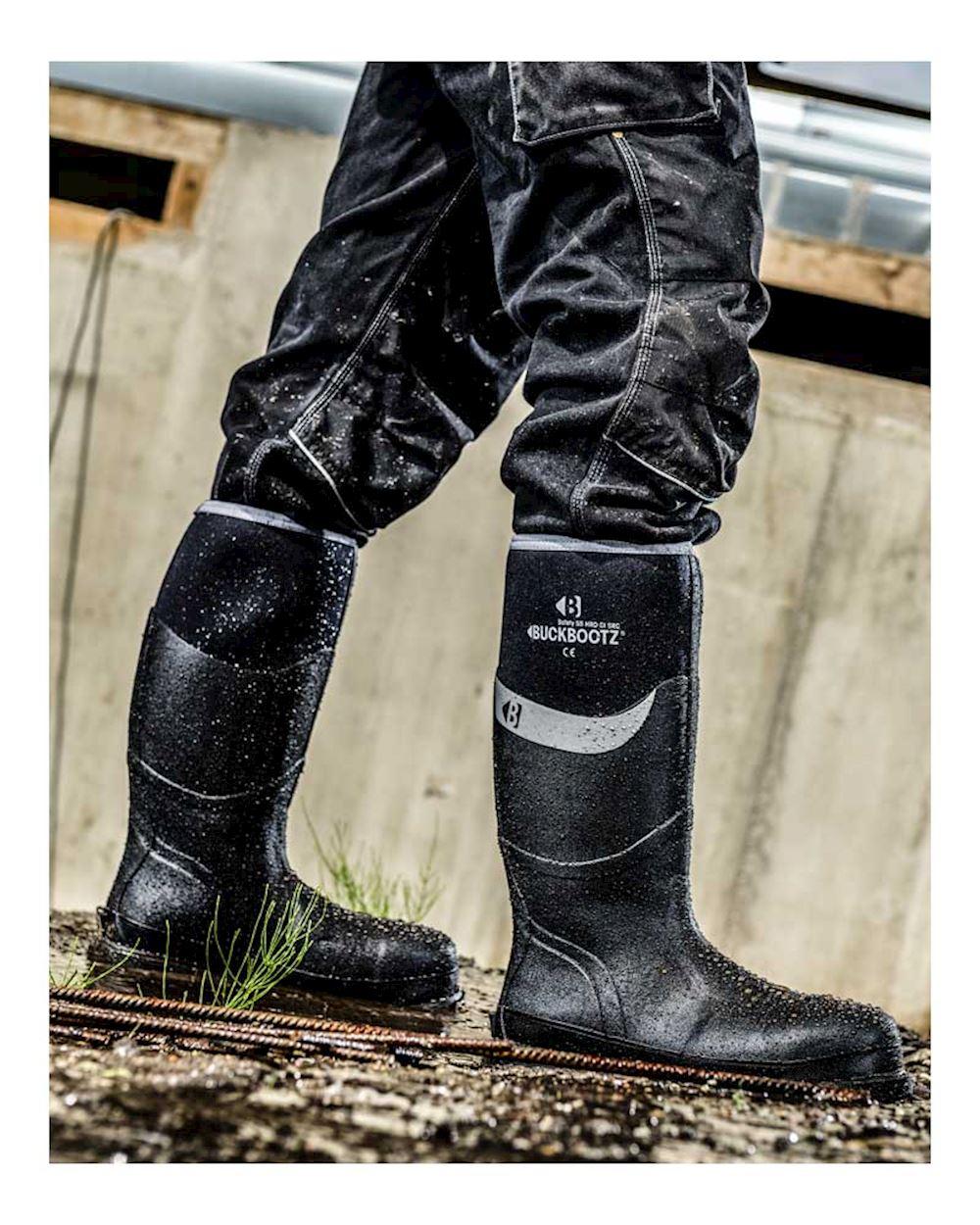 buckbootz bbz6000bk safety wellington boots
