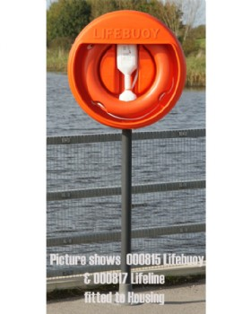 Lifebuoy Housing For 24 Inch Lifebuoys With Surface Mounted GRP Post