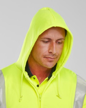 'Hoodie'  Hi Vis Zipped Sweat Shirt With Hood