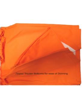 Hi - Vis Orange Breathable Waterproof  Over Trousers Class 3