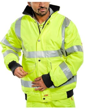 High-Vis Bomber Jacket Class 3 Saturn Yellow