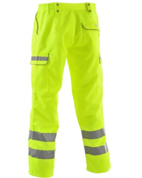 High-Vis Yellow Polycotton Teflon Coated Trousers Reg