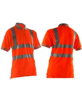 High Visibility Orange Polo Shirt Short Sleeved