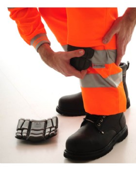 Hi - Vis Orange Trousers Railtrack - RIS-3279-TOM  Short Leg