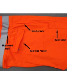 Hi-Vis Orange Flame Retardant Boiler Suit Network Rail RIS-3279-TOM