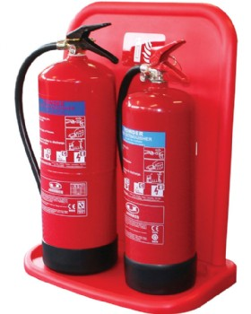 Jonesco Double Fire Extinguisher Stand