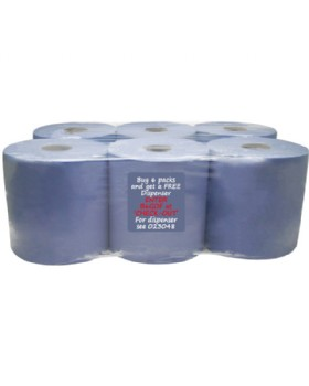 Centrefeed Roll Blue 150m (Pack 6)