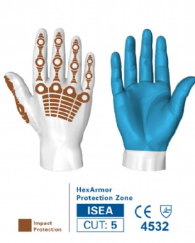 Hexarmor 4036 Impact Glove Hi Vis Chrome Series