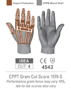 Thin Lizzie Impact & Cut Resistant Glove Hexarmor 2090