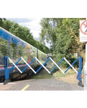 Expanding Barrier Blue And White Ideal For Railways