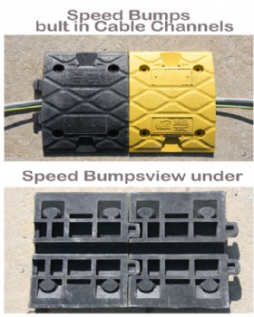 Speed Bump Kit 3m With end Caps & Concrete Fixings Height 5cm