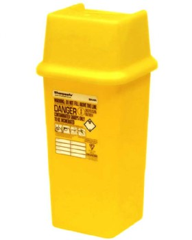 Sharps Bin - Needle Disposal Container 7L Capacity