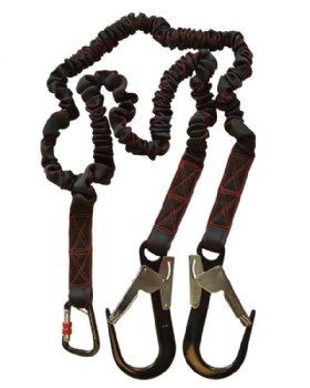 K2 Twin Tail Fall Arrest Lanyard With Scaffold Hooks