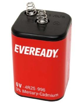 6 Volt Battery 4R25 - PJ 996 Eveready