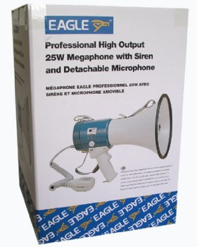 25W Megaphone With Detachable Microphone & Siren Eagle P636