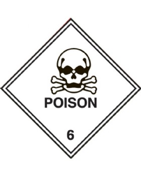 Hazard Warning Poison  Labels