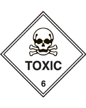 Hazard Warning Toxic Labels