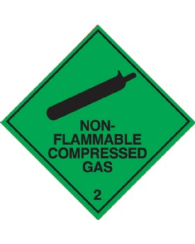 Non - Flammable Compressed Gas Hazard Warning