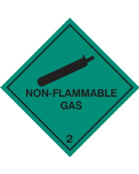 Non - Flammable Gas Hazard Warning