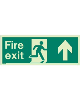 Fire Exit Up Sign Jalite Photo-Luminescent