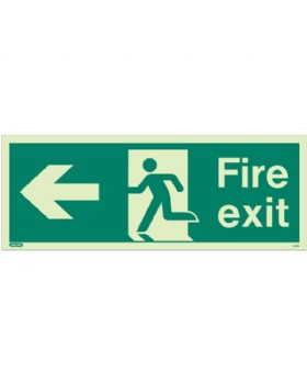 Fire Exit Left Sign Jalite Photo-Luminescent