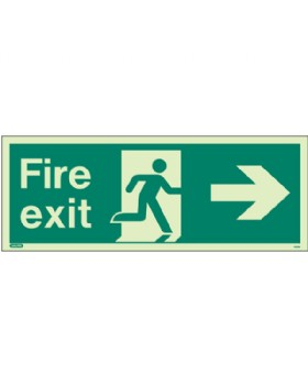 Fire Exit Right Sign Jalite Photo-Luminescent
