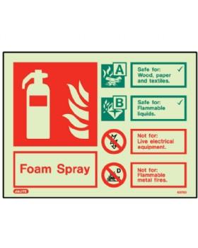 Identification Foam Sign Jalite Photo-Luminescent