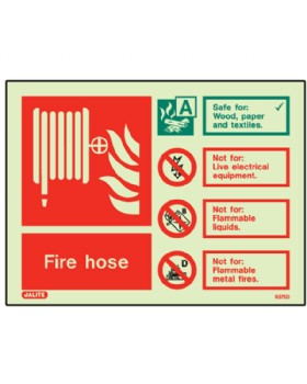 Fire Hose Reel Sign Jalite Photo-Luminescent
