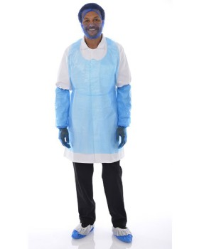 Polythene Disposable Apron White - Pack 100