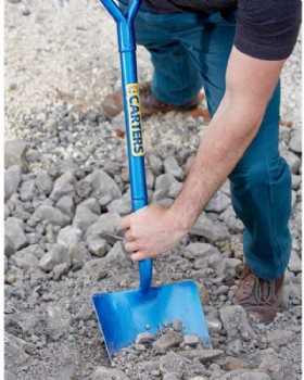 Carters Solid Socket Tapered Mouth Shovel All Steel