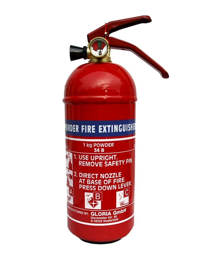 1kg Dry Powder Fire Extinguisher  - Gloria