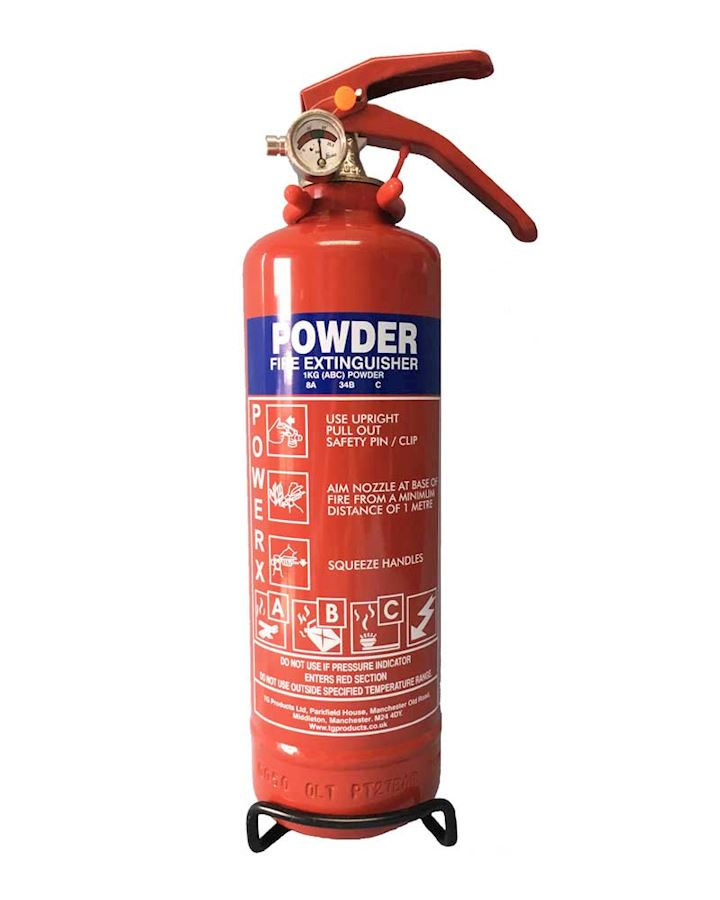 1kg Dry Powder Fire Extinguisher - PowerX