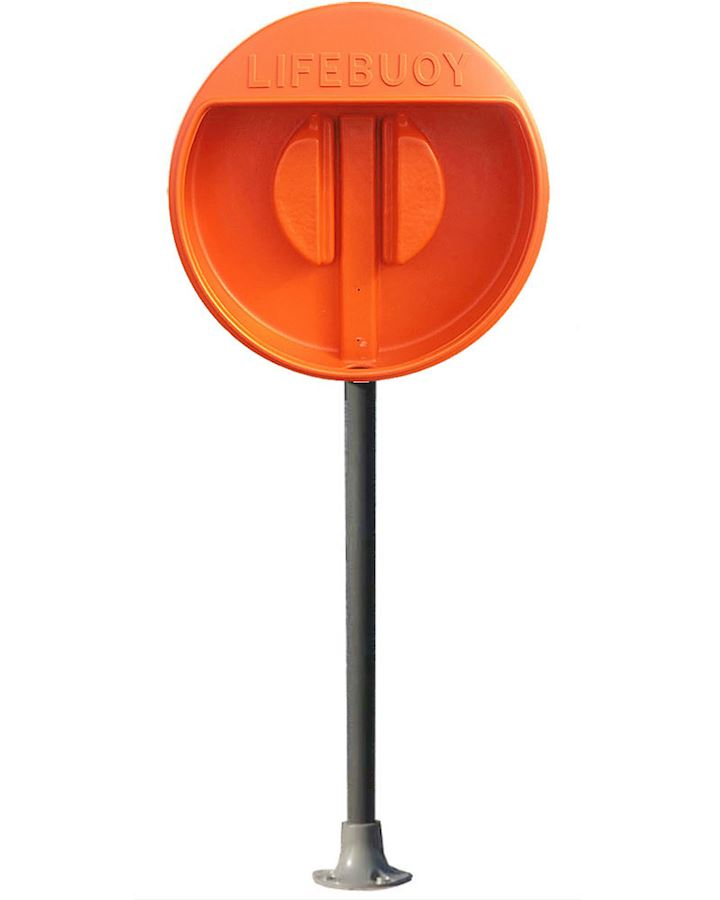 Lifebuoy Housing For 30 Inch Buoy With Surface Mounted GRP Post