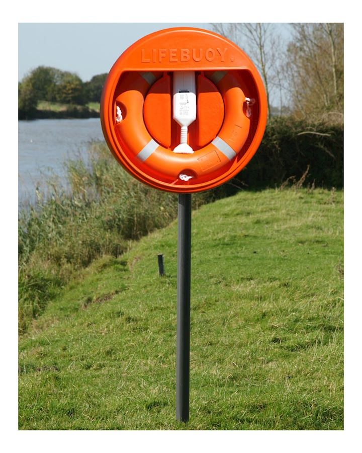 24 Inch Lifebuoy Station Complete - Stand Sub Surface mounted