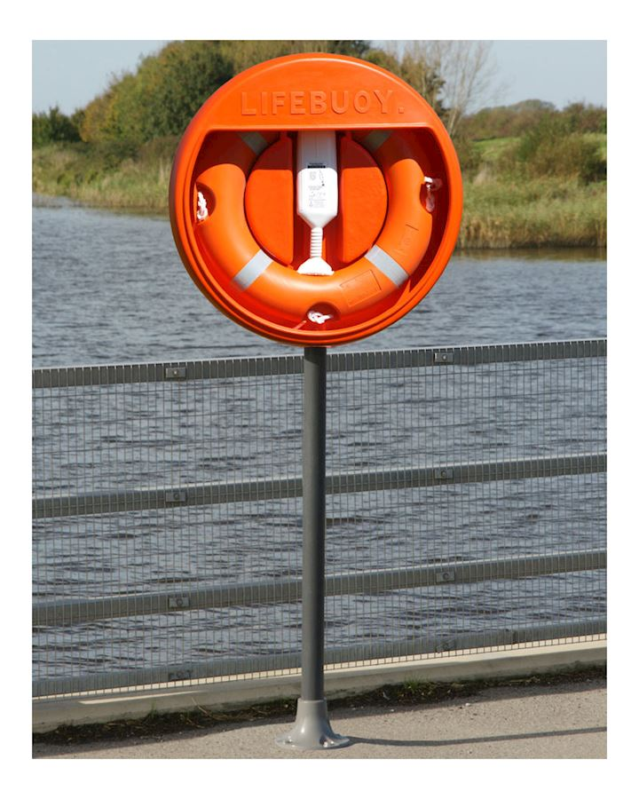 24 inch Lifebuoy Station  Complete - Stand Surface Mounted