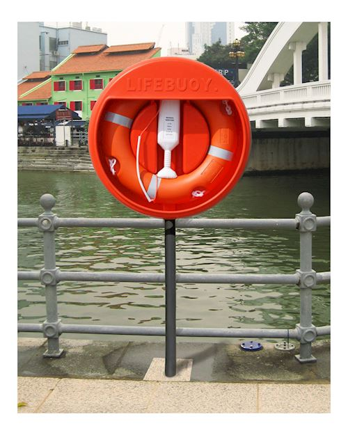 Lifebuoy Housing For 30 Inch Buoy With Sub Surface GRP Post