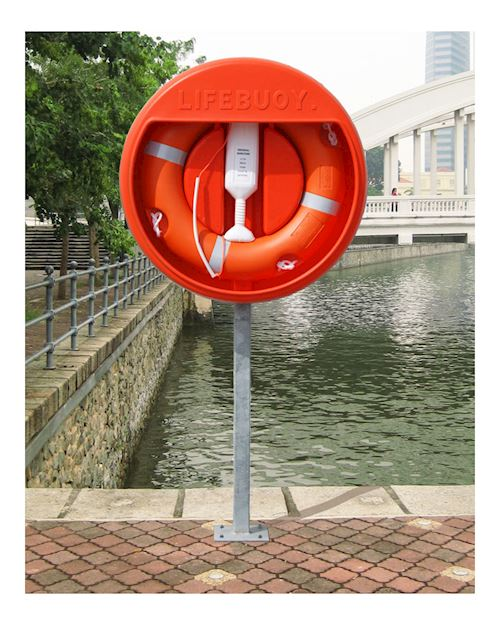 Lifebuoy Housing For 30 Inch Lifebuoys With Surface Mounted Post