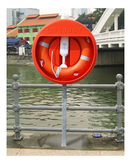 Lifebuoy Housing For 30 Inch Lifebuoys With Sub Surface Post