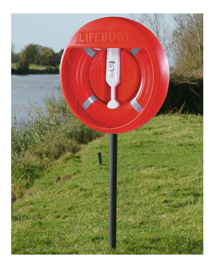 30 inch Lifebuoy Station Complete - Stand Sub Surface Mounted