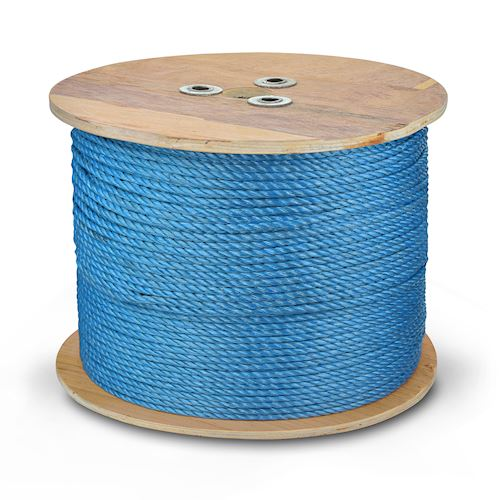 6mm Polypropylene Rope - Draw Cord On Wooden Reel 500m