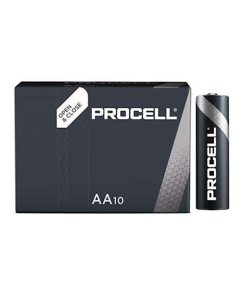 Procell Duracell Industrial AA Alkaline Batteries 1.5V (Pack Of 10)
